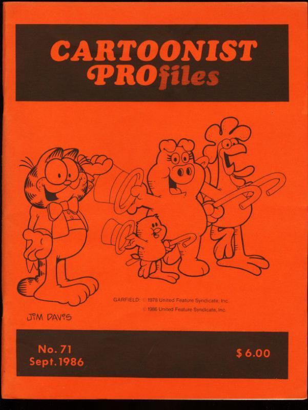 CARTOONIST PROFILES #71-1986-JIM DAVIS-JOHN BYRNE VF