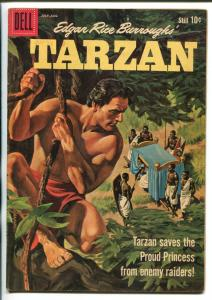 TARZAN #119-1960-DELL-PAINTED COVER- BURROUGHS- MARSH- MANNING-vf minus