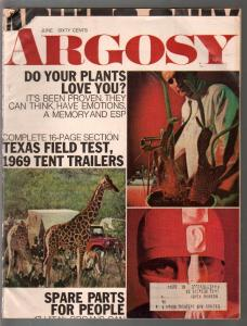 Argosy 6/1972-HJungle Story-misprint cover-pulp fiction-FN