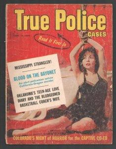 True Police Cases 6/1960-Bondage lingerie cover-Night of Horror-Teen-age Love...