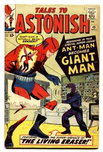 TALES TO ASTONISH #49 comic book 1st GIANT-MAN 1963-MARVEL-ANT-MAN FN