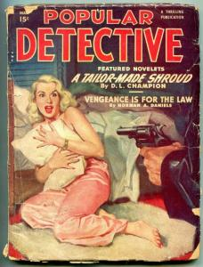 Popular Detective Pulp May 1950- Tailor Made Shroud- GGA cover FAIR