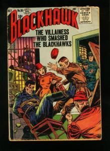 BLACKHAWK COMICS #90 1955-WILD BOUND COVER-QUALITY COMICS-  good G