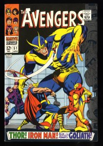 Avengers #51 VF+ 8.5 White Pages