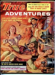 True Adventures 4/1960-crime-pirates-cheesecake-Victor Olson-FN/VF