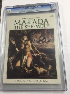 Marvel Graphic Novel 21 Marada The She-wolf Cgc 9.8 White Pages