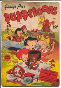 George Pal's Puppetoons #3-1946-Fawcett-puppet cartoon series-G