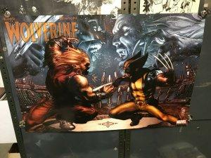 Wolverine & Sabretooth X-MEN Marvel Promo Poster Simone Bianchi 2006 26x34 flat