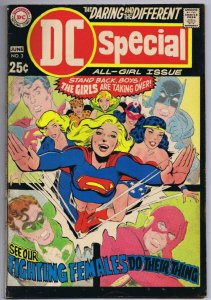 DC Special #3 ORIGINAL Vintage 1969 All Girls Issue Supergirl Wonder Woman
