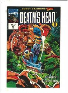 Death's Head II #3 NM- 9.2 Volume 2 Marvel UK Comics 1992 X-Men app.