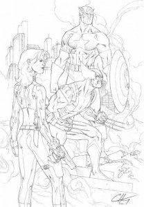 Original Uncanny X-Men #268 JIM LEE COVER HOMAGE by Clayton Henry - 11 x17