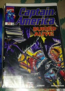 Captain America # 10 1998 marvel  rhino buried alive agent 13 sharon carter