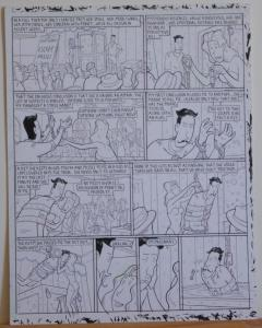 DOUGLAS PASZKIEWICZ original art, ARSENIC LULLABY BIG STALL pg 30, Marriage pit