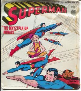 Superman 33 1/3 Record -7-Neal Adams #2304 1975-Power-Mr Mxyztplk-Up Menace-G