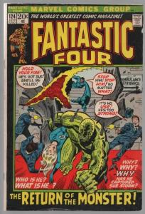 FANTASTIC FOUR 124 VG July 1972