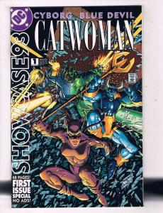 Lot Of 5 Showcase 93' DC Comic Books # 1 3 4 5 6 Catwoman Batman Flash Atom AD25