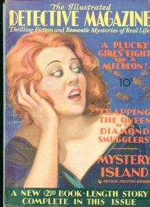 THE ILLUSTRATED DETECTIVE MAGAZINE-7/30-PLUCKY GIRL'S-DIAMOND SMUGGLERS FN/VF