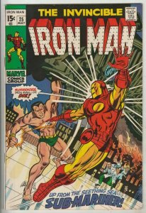 Iron Man # 25 Strict VF/NM High-Grade Battle Namor the Sub-Mariner just in