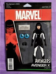 Mark Waid AVENGERS #5.1 Avenger X Action Figure Variant Cover (Marvel, 2017)!