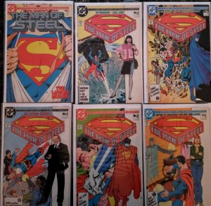 MAN OF STEEL #1-6 DC COMIC FULL RUN LOT HI GRADE Avg NM