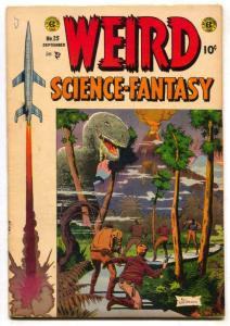 Weird Science-Fantasy #25 1954- Flying Saucer Report -G+