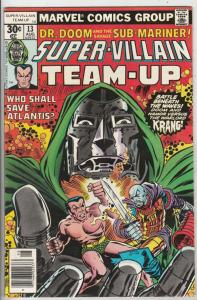 Super-Villian Team-Up #13 (Aug-77) NM- High-Grade Namor the Sub-Mariner, Doct...