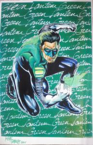 SIGNED Rod Ramos Green Lantern art Print!11x17 NM Kyle Rayner Ion