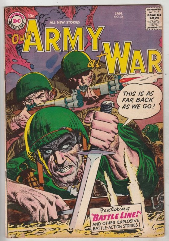 Our Army at War #54 (Jan-57) FN/VF+ High-Grade