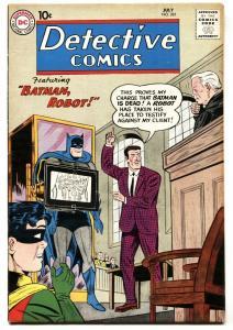 DETECTIVE  #281-1960-DC-BATMAN, ROBOT!-JOHN JONES-X-RAY FN/VF