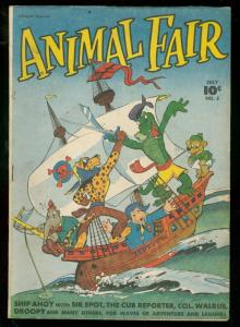 ANIMAL FAIR #5 1946-FAWCETT FUNNY ANIMAL-PIRATE-HIGRADE VF