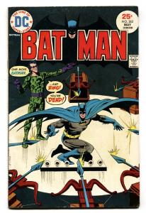 BATMAN  #263 COMIC BOOK 1975-DC-Riddler Comic book VG