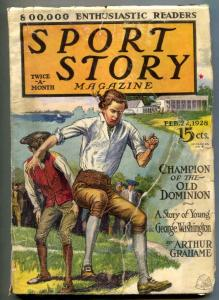 Sport Story Pulp February 22 1928- GEORGE WASHINGTON