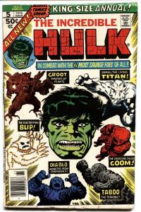 Incredible Hulk Annual #5 Groot cover. guardiansof the galaxy 1976.