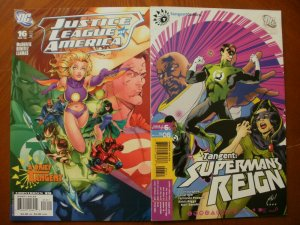 2 Comic: DC JUSTICE LEAGUE OF AMERICA #16 (2008) & Tangent SUPERMAN'S REIGN #6