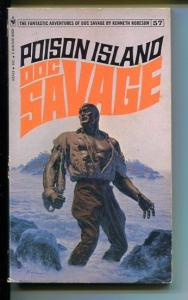 DOC SAVAGE-POISON ISLAND-#57-ROBESON-VG/FN-JAMES BAMA COVER-1ST EDITION VG/FN