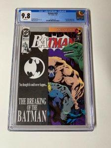 Batman 497 Cgc 9.8 White Pages Dc Comics Bane Breaking The Bat