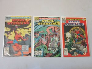 Steel Sterling #5,6,and 7 3 Different Books 6.0 FN (1983)