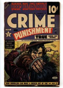 CRIME AND PUNISHMENT #66 3-D effect 1953-CHARLES BIRO & ALEX TOTH VG