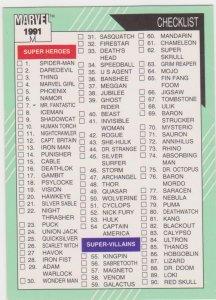 1991 Marvel Universe #162 Checklist