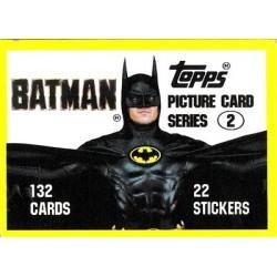 1989 Batman The Movie Series 2 Topps BATMAN-THE SECOND SERIES #133