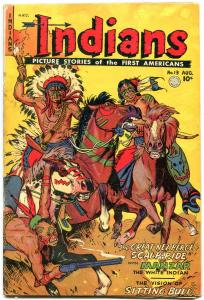 INDIANS  #13 1952-MANZAR-LONE WOLF-Golden Age Fiction House Western G/VG