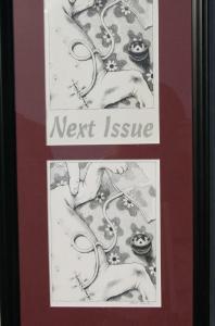 RENEE FRENCH original art, GRIT BATH last page, 6.5x8.5, 1994, aka Rainy Dohaney