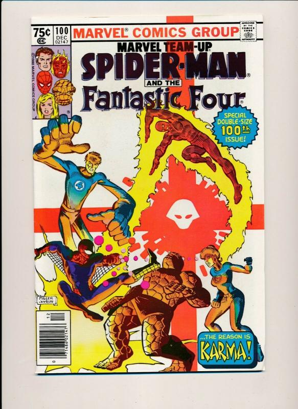 Marvel Team-Up SPIDER-MAN & FANTASTIC FOUR #100 Dec 1980 VERY FINE (PF381)