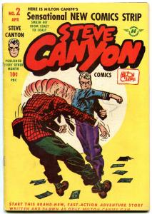Steve Canyon #2 1948- Harvey Golden Age comic- Milton Caniff G+
