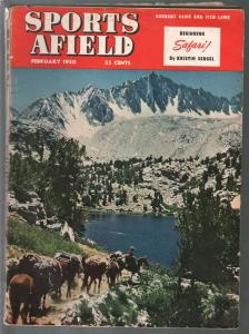Sports Afield 2/1950-photo cover-hunting-fishing-pix-ads-info-VG