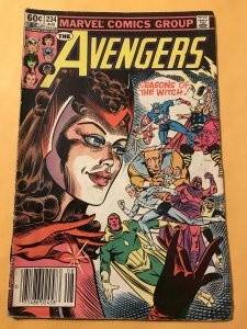 THE AVENGERS #234 : Marvel 8/83 VG; Scarlet Witch story, Newsstand