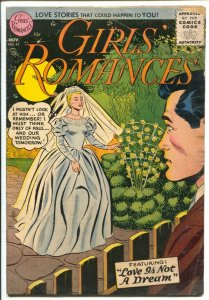 Girls' Romances #41 1956-DC-stylish bride cover-Love Is Not A Dream-VG