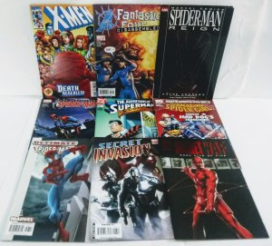 MARVEL & DC Comic Book Lot of (9) No Reserve! 1¢ Auction!