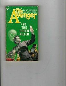 3 Books The Avenger The Green Killer M.A.S.H. Novelization Dirty Harry JK26