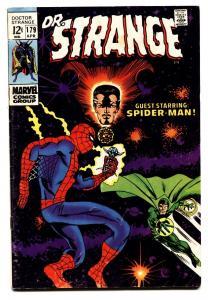 Dr Strange #179 1969- Marvel Comics- Spider-man - Ditko art VG/FN